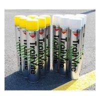 Lot 12 aérosols peinture TraitVite™ 6 blancs + 6 jaunes