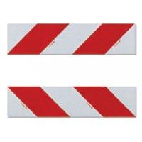 Bandes autocollantes blanc rouge 140 x 560 mm