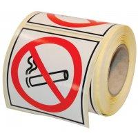 Rouleau 250 autocollants papier Défense de fumer