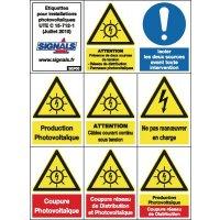Etiquettes pour installations photovoltaïques