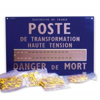 Lettrage pour plaque de poste de transformation