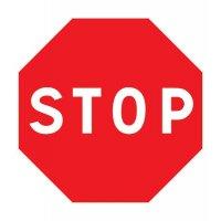 Pictogramme magnétique symbole Stop