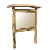 Planimètre bois avec vitrine recto et toiture galbée