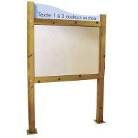 Planimètre bois avec bandeau et panneau PVC