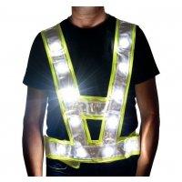 Baudriers haute visibilité étanches à LED