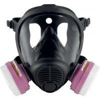 Masque respiratoire en silicone bi-filtres