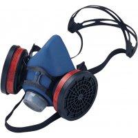 Demi-masque respiratoire bi-filtres