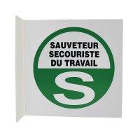 Signalisation en drapeau Sauveteur Secouriste Travail