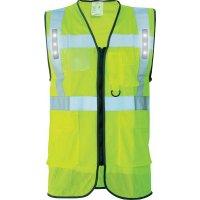 Gilet de sécurité jaune ou oragne à LED