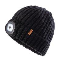 Bonnet noir avec Patch LED 100% acrylique