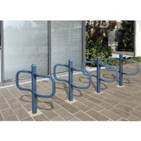 Range vélos poteau 2 vélos scellé finition standard