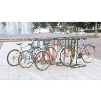 Range vélos au sol 16 vélos face à face