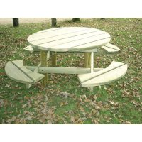 Table Banc Ronde 4/8 Personnes