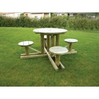 Table Banc Ronde 4 Places