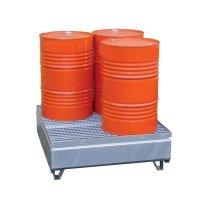 Bacs de rétention galvanisés 1 à 4 fûts