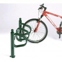 Range vélos sur potelets 3 vélos côte à côte
