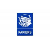 Panneau PVC pour support de sacs poubelle