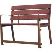 Options pour bancs et fauteuils Senior en bois et acier