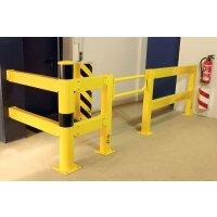 Set complet de barrière de sécurité avec porte battante