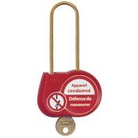 Cadenas de condamnation clé standard anse Ø 4 mm H50 mm