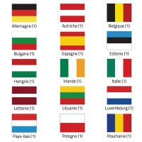 Drapeaux pays européen