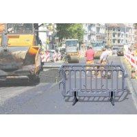 Barrière de police en polyéthylène haute densité