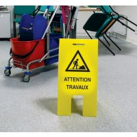 Balise éco  Attention Travaux