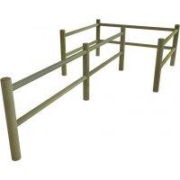 Chicane en bois pour personnes à mobilité réduite