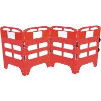 Barrières pliantes 3 ou 4 panneaux en polyéthylène