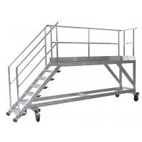 Plate-forme d'accès aux quais en aluminium