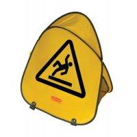 Panneau d'avertissement pliable en tissu