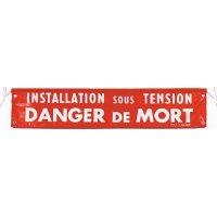 Banderole de sécurité électrique 1000 x 200 mm