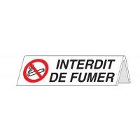 Chevalet en PVC Interdit de fumer recto/verso
