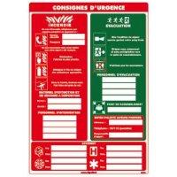 Consignes d'urgence