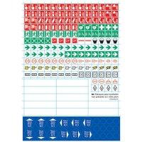 Planche de 186 mini symboles pour plans d' évacuation