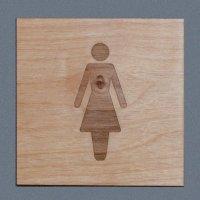 Plaques en bois gravée avec pictogramme