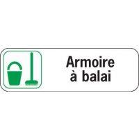 Plaque de porte en Polypropylène Armoire à balai