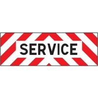 Plaques pour véhicules de chantier Service