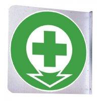 Support en drapeau carré PVC ou Alu