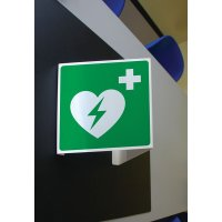 Support Drapeau en Pvc avec 2 symboles sérigraphiés