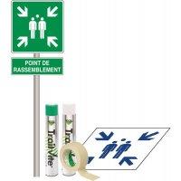 Kit Panneau et Pochoir Point de rassemblement
