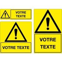 Panneau Danger personnalisé avec pictogramme A14