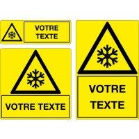 Panneau Danger basse température personnalisé