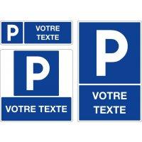 Panneau Parking avec texte personnalisé