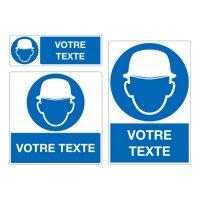 Panneau Port du casque obligatoire personnalisé