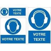 Panneau Port protection auditive oblig. personnalisé