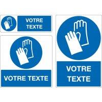 Panneau Port des gants obligatoire personnalisé