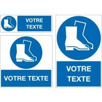 Panneau Port chaussures de sécurité oblig. personnalisé