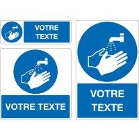 Panneau Lavage des mains obligatoire personnalisé
