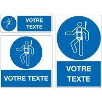 Panneau personnalisé Port du harnais obligatoire